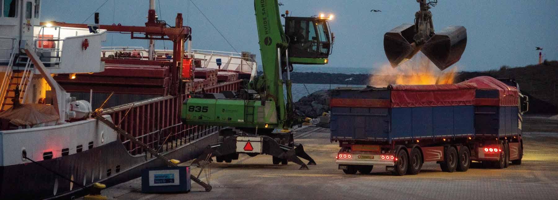 hvidesande havn transport